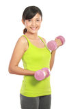 Working out with dumbbells Royalty Free Stock Photography