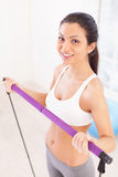 Working out is fun. Royalty Free Stock Photo