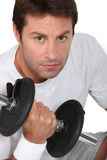 Working out at the gym Stock Image
