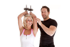 Working Out Trainer Stock Image