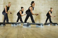 Working out women royalty free stock images