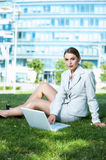 Working Outdoor Royalty Free Stock Photography