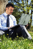 Working outdoor Royalty Free Stock Image
