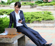 Working outdoors Stock Photography