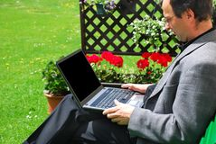 Working outdoors Stock Photos