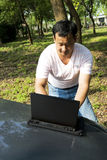 Working outdoors Royalty Free Stock Photos