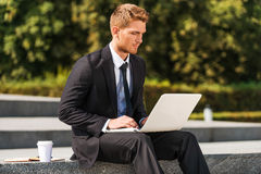 Working outdoors. Royalty Free Stock Photography