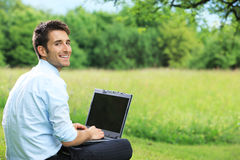 Working outdoors Royalty Free Stock Image