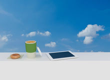 Working outside / coffee break Royalty Free Stock Photos
