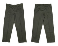 Working pants green color. Royalty Free Stock Images