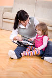 Working and parenting Stock Photo