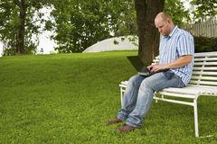 Working in the Park Royalty Free Stock Photography