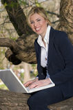 Working-in-the-park Stock Photo