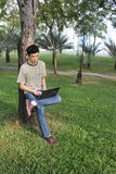 Working in the park Stock Photography