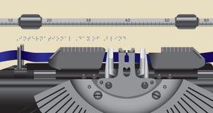 Typewriter type font Braille royalty free illustration