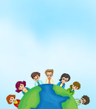 Working people around the earth Royalty Free Stock Photo