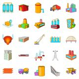 Working people icons set, cartoon style Royalty Free Stock Images