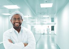 Working people with white uniforms Stock Image