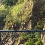 Working on Pipe Near Banos, Ecuador Stock Photo