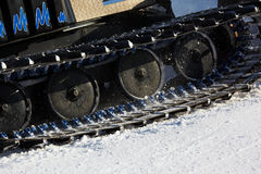 Working Piste machine (snow cat) detail Stock Image