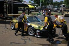 Working pit crew Royalty Free Stock Images