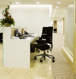 Working place. Of a receptionist Royalty Free Stock Image