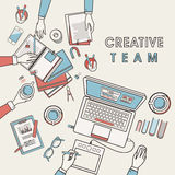 Working place of creative team Royalty Free Stock Photography