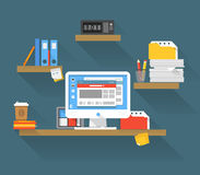 Working place stock illustration