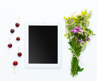 Working Place with Tablet Stock Images