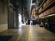 working place in warehouse stock photo