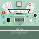 Working place witn equipment Royalty Free Stock Image
