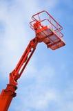 Working platform. Modern working platform in front of blue sky Royalty Free Stock Photo