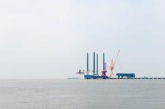 Working platform on the Yangtze River Stock Photography