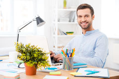 Working with pleasure. Royalty Free Stock Photos