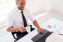 Working with pleasure. Stock Images