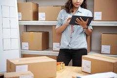 Working in post warehouse royalty free stock photography