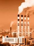 Working power station Royalty Free Stock Photography