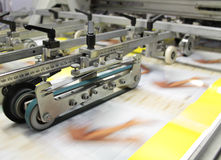 Working print machine - Others in my gallery. Fast print of coloured brochures royalty free stock image
