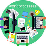 Working process of business team concept Royalty Free Stock Photo