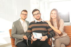 Working process, business  team working in modern office Royalty Free Stock Images
