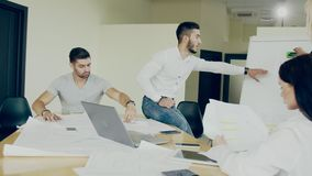 Harmonic motions and gestures of the people during the working day at office conception of the ideal working place