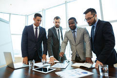 Working Process in Meeting Room Stock Photo