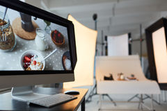 Working Process at Modern Photostudio Stock Images