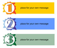 Working process in three steps Royalty Free Stock Images