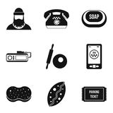 Working profession icons set, simple style. Working profession icons set. Simple set of 9 working profession vector icons for web isolated on white background Stock Images