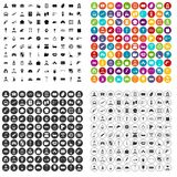 100 working professions icons set vector variant Stock Image