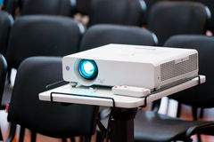 Working projector at the conference Stock Image