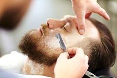 Working with razor Royalty Free Stock Photos