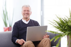 Working retired man Royalty Free Stock Images