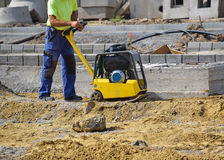 Working at the road construction royalty free stock images